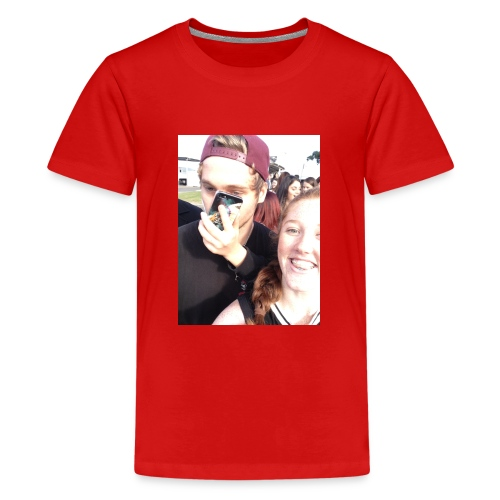 Luke Hemmings with a phone in his face - Kids' Premium T-Shirt