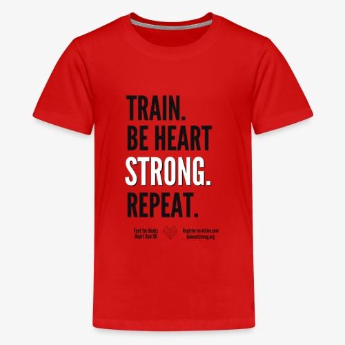 Heart Run training shirt - Kids' Premium T-Shirt