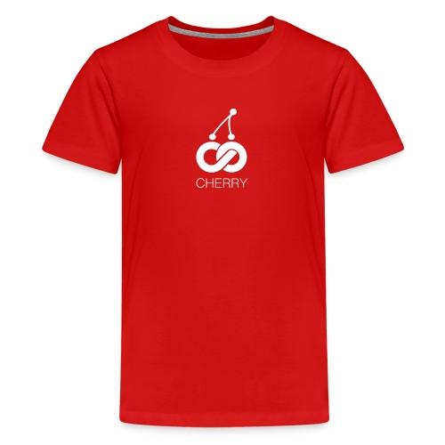 Cherry White Logo - Kids' Premium T-Shirt