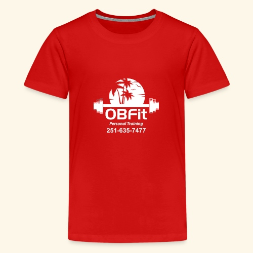 OB Fit with pn white personal training - Kids' Premium T-Shirt