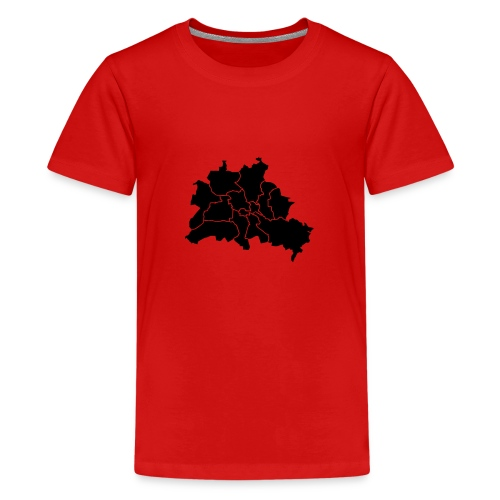 Berlin map, districts - Kids' Premium T-Shirt