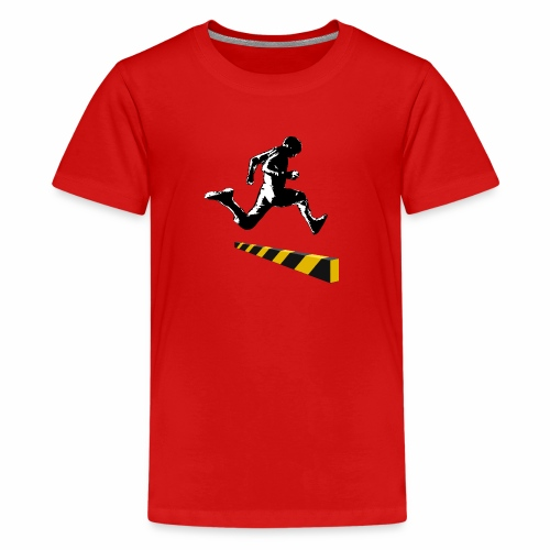 Leaping The Bounds of Caution - Kids' Premium T-Shirt