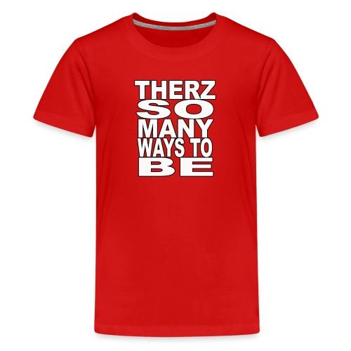 Therz white shirt png - Kids' Premium T-Shirt