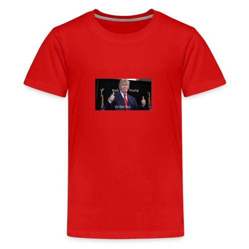 Back Trump - Kids' Premium T-Shirt