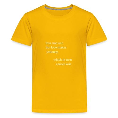love not war (invert) - Kids' Premium T-Shirt