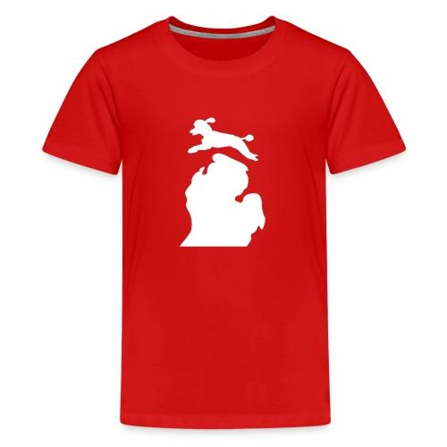 Bark Michigan poodle - Kids' Premium T-Shirt