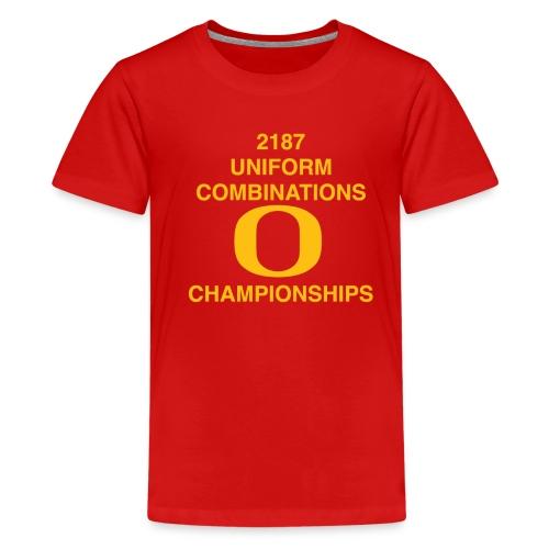 2187 UNIFORM COMBINATIONS O CHAMPIONSHIPS - Kids' Premium T-Shirt