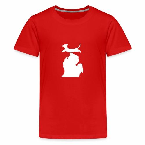 Dachshund Bark Michigan womens shirt - Kids' Premium T-Shirt