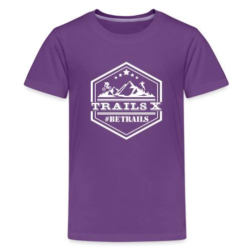 10x10 TrailsX Logo-White - Kids' Premium T-Shirt