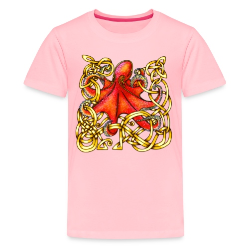 Octopus - Red & Gold - Kids' Premium T-Shirt