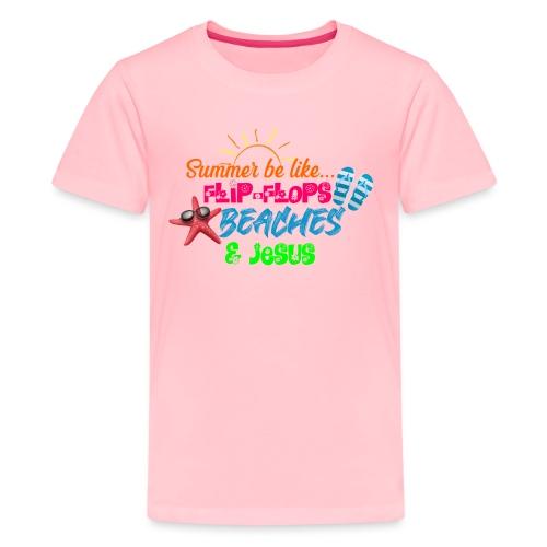 Flip Flops, Beaches, & Jesus - Kids' Premium T-Shirt