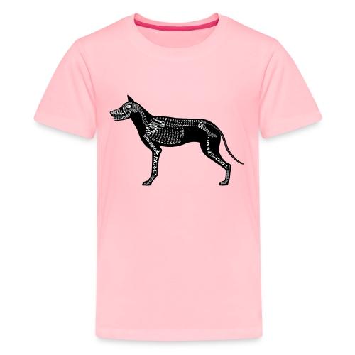 Skeleton Dog - Kids' Premium T-Shirt