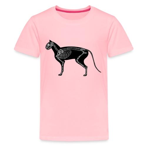 Skeleton Cat - Kids' Premium T-Shirt
