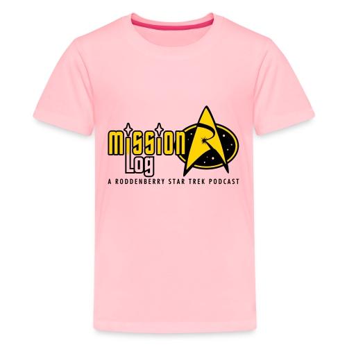 Logo Wide 2 Color Black Text - Kids' Premium T-Shirt