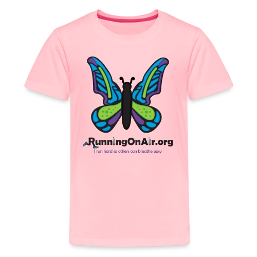 Running On Air logo for light colored shirts - Kids' Premium T-Shirt