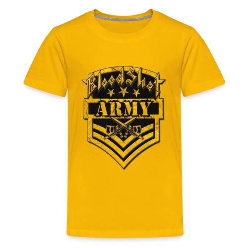 BloodShot ARMYLogo Gold /Black - Kids' Premium T-Shirt