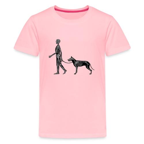 Skeleton Human and Dog - Kids' Premium T-Shirt