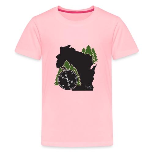 Wisconsin Compass Logo - Kids' Premium T-Shirt
