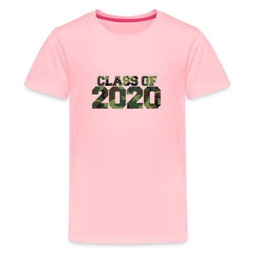 Class of 2020 Camo grad logo - Kids' Premium T-Shirt
