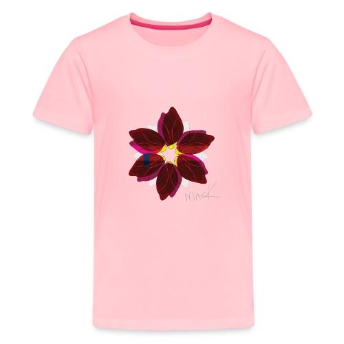 Collage Style Flower - Kids' Premium T-Shirt