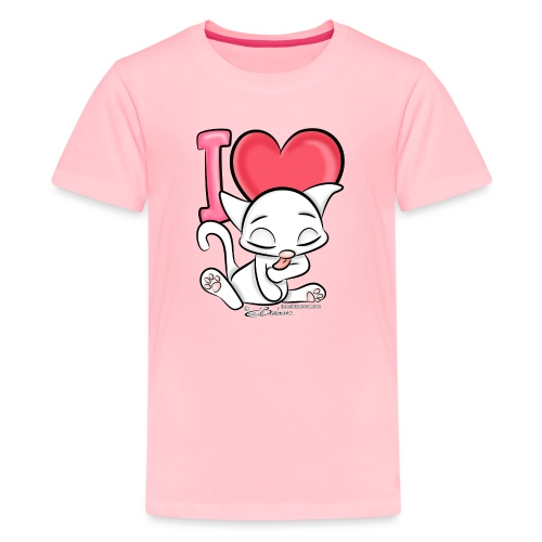 I Love Cats - Kids' Premium T-Shirt