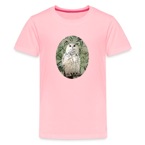 awesome cute snowy owl gift bird lovers - Kids' Premium T-Shirt