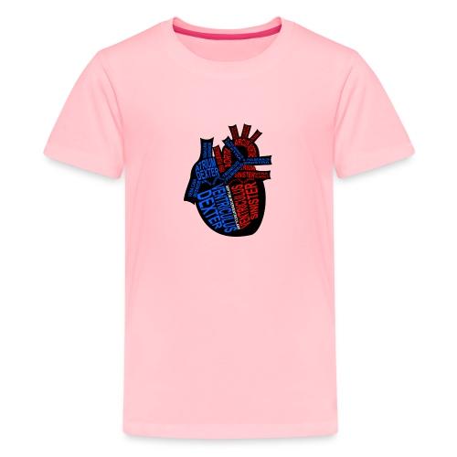 Skeleton Heart - Kids' Premium T-Shirt