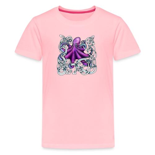 Celtic Octopus - Purple - Kids' Premium T-Shirt
