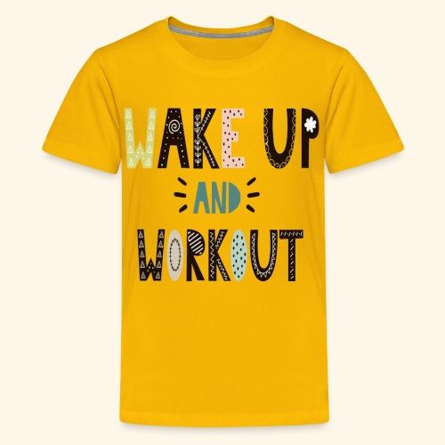 Gym Workout Design - Kids' Premium T-Shirt