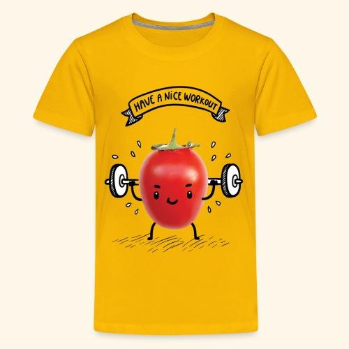 Tomato Man Gym - Kids' Premium T-Shirt