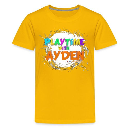 Playtime with Ayden - 1st edition - Red T-shirt - Kids' Premium T-Shirt