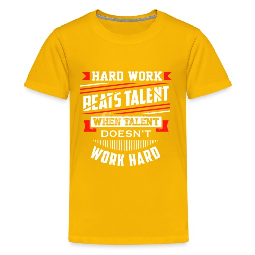 Hard Work Design - Kids' Premium T-Shirt