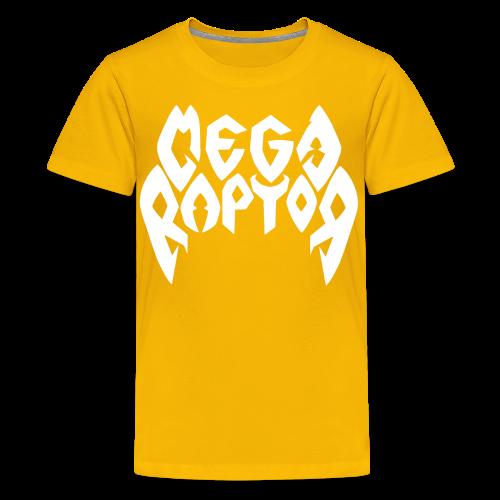 Megaraptor Logo White - Kids' Premium T-Shirt