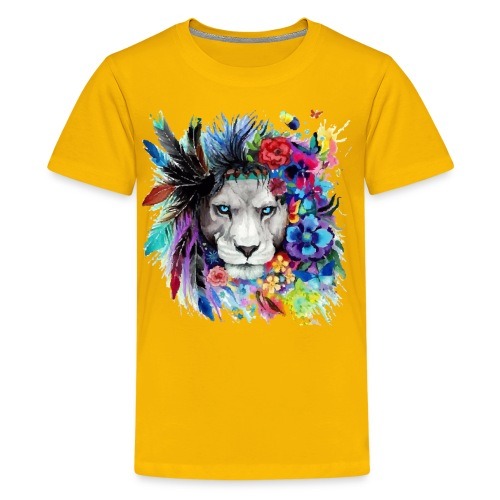 Colorful Lion Pained Look effect - Kids' Premium T-Shirt