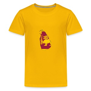 Flag map of sri lanka - Kids' Premium T-Shirt