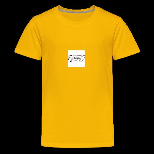 I'd Rather Be Fishing - Kids' Premium T-Shirt