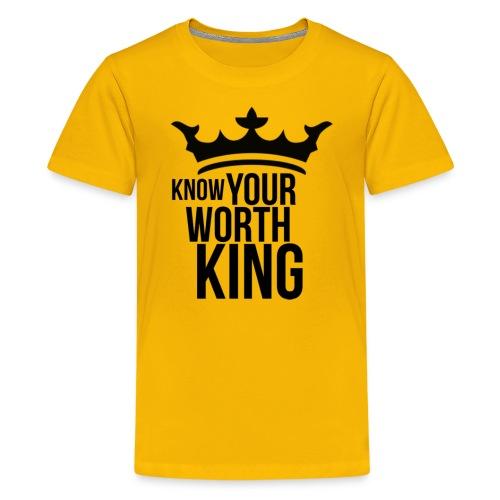 Know Your Worth King BLK - Kids' Premium T-Shirt