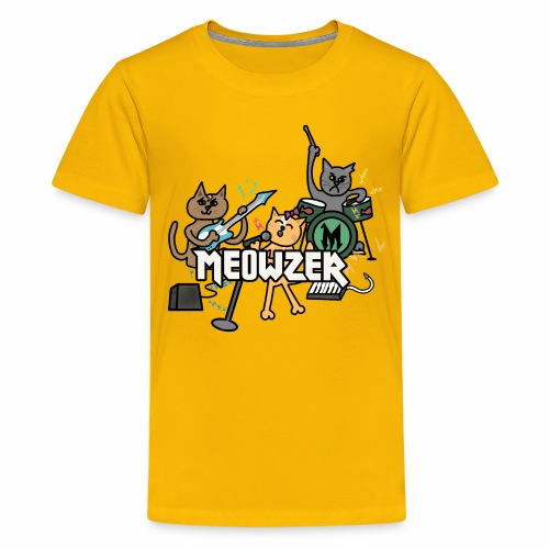 Meowzer! Funny Cute Cat Kitty Band, Adorable Silly - Kids' Premium T-Shirt