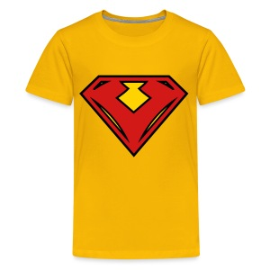 Vegan superhero - Red - Kids' Premium T-Shirt