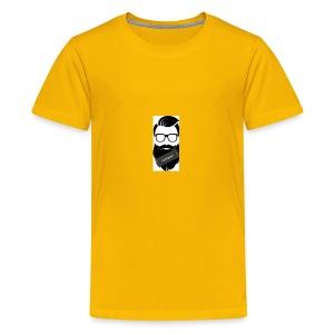Educated Beard wise man logo - Kids' Premium T-Shirt