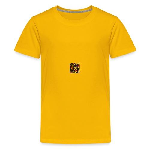 black fire flames fabric Monster Truck Madness 189 - Kids' Premium T-Shirt