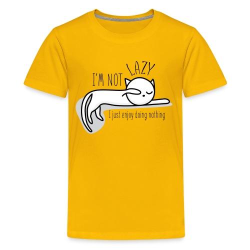 A lazy cute cat - Kids' Premium T-Shirt