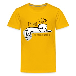 A lazy cute cat - Kids' Premium T-Shirt