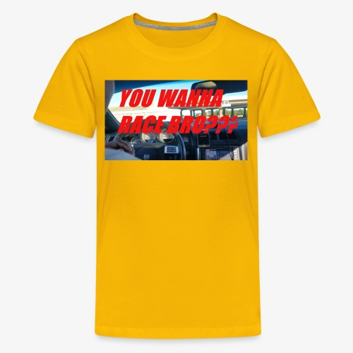 YOU WANNA RACE BRO?? - Kids' Premium T-Shirt