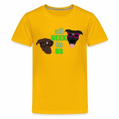Geeky Dogs - Kids' Premium T-Shirt