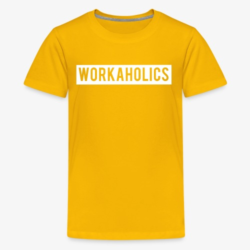 Workaholics Negative Text Logo - Kids' Premium T-Shirt