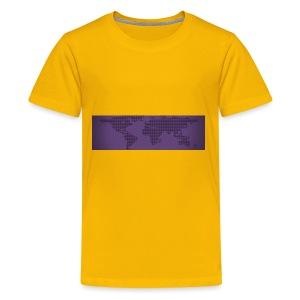 flat earth - Kids' Premium T-Shirt