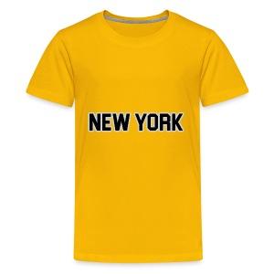 New York Yankee - Black - Kids' Premium T-Shirt