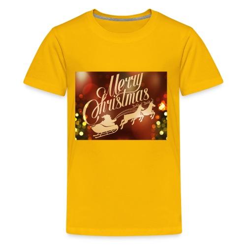 merry christmas 2015 carriage santa claus vector h - Kids' Premium T-Shirt