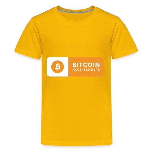 Bitcoin Accepted Here Logo Symbol Cryptocurrency - Kids' Premium T-Shirt